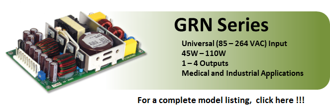 GRN Series Energy Efficient Power Supplies