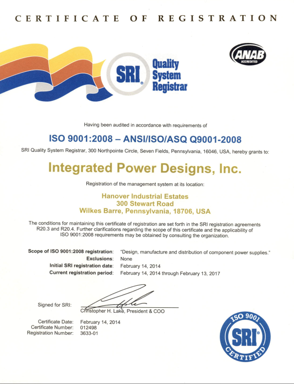 Quality Environmental ISO 9001-2008 Iso 14001:2004 Power